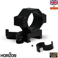 HORIZON Quick Release QD Weaver Picatinny Scope Light Mount Rings 30MM 25.4MM UK