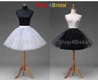 Black White Knee Length Prom Wedding Dress Petticoat Underskirt Crinoline Slips
