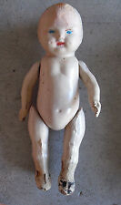 """Antique 1910s AGD Allied Composition Baby Boy Character Doll 9"""" LOOK"""