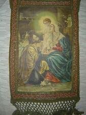 Stendardo antico fine 800 Sacra Famiglia arazzo gagliardo arte sacra