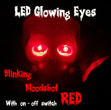LED GLOWING EYES HALLOWEEN BLINKING RED 5MM 9V ON/OFF SWITCH
