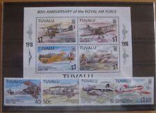 Tuvalu Royal Air Force  -  Satz + Block ** / postfrisch