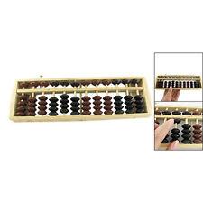 Brown Black Bead School Calculation Japanese Soroban Wood Abacus Gift ED