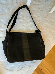 Coach nylon leather messenger handbag travel crossbody Commuter bag laptop tote