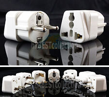 CEE 7/7 Plug ( Type E & F ) - Universal Travel Adapter French & German Standard