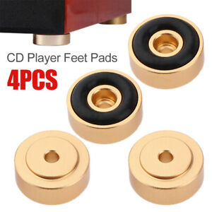 Aluminum Isolation CD Player Feet Pad Turntable Radio Amplifier Base Mat 20X8mm-