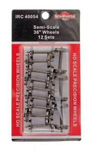 InterMountain HO Scale 36'' Semi Scale Metal Wheels 12Pk NEW 40054