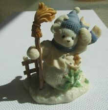 D36 Cherished Teddies Buddy And The North Wind Shall Blow Snowman Figurine