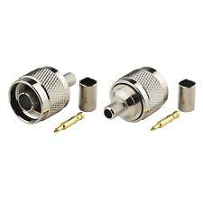 10 Stück N Male Crimp Solder Stecker für RG8X LMR-240 0,240 Zoll Kabel