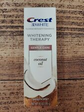 Crest 3D White Toothpaste Coconut Oil Smooth Mint Whitening Therapy Gentle Care