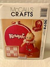 MCCALL'S CRAFT PATTERN FOR KEWPIE DOLL #3072 BRAND NEW RETIRED HARD TO FIND