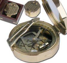 Nautic Kompass aus MESSING 7cm + Massivholzbox 9030
