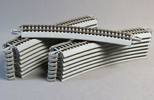 "BACHMANN E-Z TRACK HO 22"" RADIUS CURVE SECTION train gray ns BULK 44583 (16) NEW"