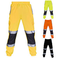 Reflective Work Pants Trousers Hi Vis Glow In Night Breathable Cycling Trousers
