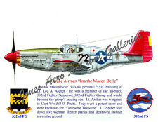 "Tuskegee Airmen Lee Archer's P-51 ""Ina the Macon Belle"" Print by Willie Jones Jr"