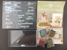 Anna Griffin Sentiments Stamp Set 19 Designs All Occasion Expressions PARITAL