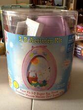 Darice Foamies 3D Sugar Egg House Foam Kit Kids Crafts Easter Decor Fun Bunny