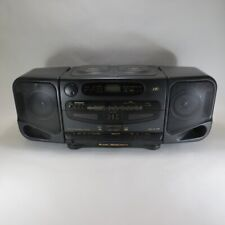 JVC Twin CD Dual Cassette PC-XT3 Boombox Portable Super Bass Horn AM FM Stereo
