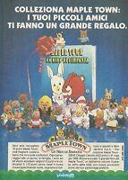 X2508 Maple Town - Wonderland - Pubblicità 1988 - Advertising