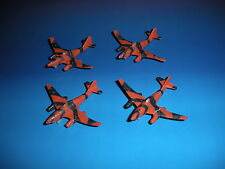 Micro Machines Military Lot Messerschmitt Me 262 X4 WWII Aircraft Jet Fighter