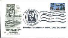 US FDC #3211 Artcraft Cachet Berlin Air Base Unofficial Cancel