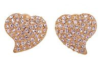 Crystals From Swarovski Alana Heart Stud Earrings Gold Plated Authentic 7119v