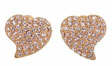 Earrings Gold Plated Authentic 7119a Swarovski Elements Crystal Alana Heart Stud