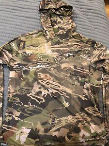 Under Armour UA hunting camo lightweight hoody sweatshirt large long sleeve