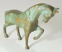 Vintage Antique Bronze Trotting Horse Sculpture Statue