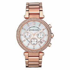 NEW MICHAEL KORS MK5491 LADIES ROSE GOLD PARKER WATCH