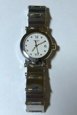 Movado Vizio Stainless Steel 18k Gold Two Tone Watch Ladies