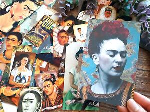 50 Vintage Frida Kahlo Gift tags Mini card Ephemera Paper Scrapbook Junk Journal