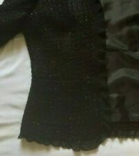 Vintage Marks and Spencer Black Jacket with Black Thread Sparkle  early 2000