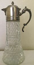 Antique Crystal Tankard with Diffuser /Silver Lid