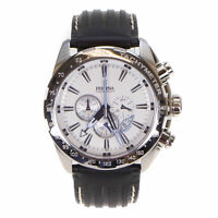 Festina Men's Chronograph Watch Stainless Steel F16489/1 With Leather Strap