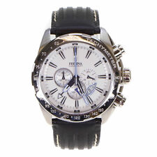 Festina Men's Chronograph Black Leather Stainless Steel Watch F16489/1