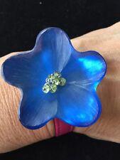Alexis Bittar Blue Lucite Flower Wrap Bracelet