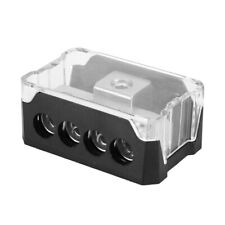 Car Audio Power Supply Distribution Box 1*0GA In 4*4GA Out Block Splitter