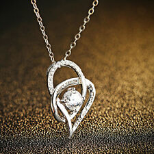 I Love You To The Moon and Back 925 Sterling Silver Heart Necklace