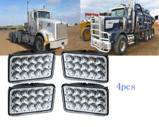 4x 4''x6''  LED Headlights For Kenworth Peterbilt Ford Freightliner Ford Truck