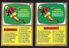 1966 TOPPS FOOTBALL Checklists #61 and #132