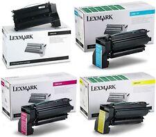 4 x Lexmark GENUINE Toner Cartridge Set 10B032K,10B032C,10B032M,10B032Y C750/750