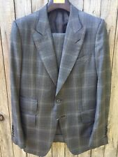 $5K+ TOM FORD Grey Plaid Suit 52R/42R - Fit W/ O'Connor 40R/50R (Made in Italy)