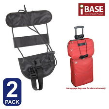 2x Add a Bag Strap Carry on Bungee Travel Luggage Suitcase Adjustable Tape Belt