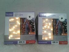 2 Solar Powered String Lights, 38FT 100 LEDs Copper Wire Fairy Indoor or Outdoor