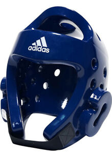 Adidas BNIB WTF Taekwondo Head Gear Helmet Headgear MMA Karate Sparring BLUE