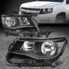 FOR 15-17 CHEVY COLORADO BLACK HOUSING CLEAR CORNER HEADLIGHT REPLACEMENT LAMPS