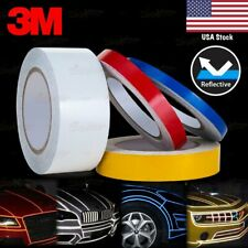 """3/8"""" 9/16"""" 1"""" 2"""" REFLECTIVE Self Adhesive PinStripe Vinyl 3M Decal Tape Stickers"""