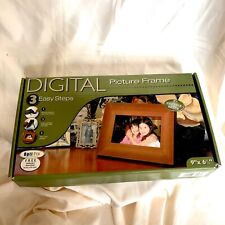 "OPTI PIX 7"" viewable image Digital Picture wood Frame 9"" x 6 1/2""   NEW OPEN BOX"