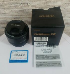 YONGNUO YN 35mm F2 Lens 1:2 AF/MF Wide-Angle Auto Focus Lens For Canon EF Mount